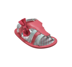 Enfant Baby Girl Sandals with Ribbon (Pink/White)