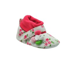 Enfant Baby High Cut Flower Design Shoes