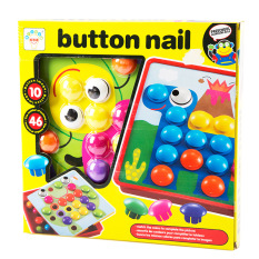 Large Particles Children Button Assembly Big Mushroom Nail Educational Enlighten Do It Creative Toy Baby Gift By Taobao Collection.