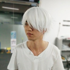 Era Male White Wig For Cosplaying Anime Characters Straight Short Synthetic Wigs - Intl By Empire Era.