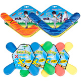 Softoys Flying Disc V Dart Eva Boomerang V Shaped Boomerang Children Outdoor Frisbee Happy Magic Disk image
