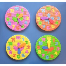 Eva Foam Clock Toy - Puzzle And Learning Time For Kids By Christine Gutierrez-Eliseo.
