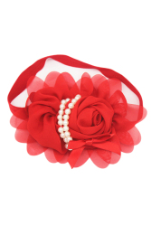 Fancyqube Baby Fashionable And Popular Children Floral Hairband Red