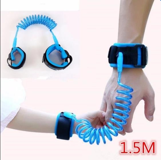 Fengsheng 2PCS 1.5M Loop Fastener Wrist Link Rope Band Leash Belt Baby Child Anti Lost