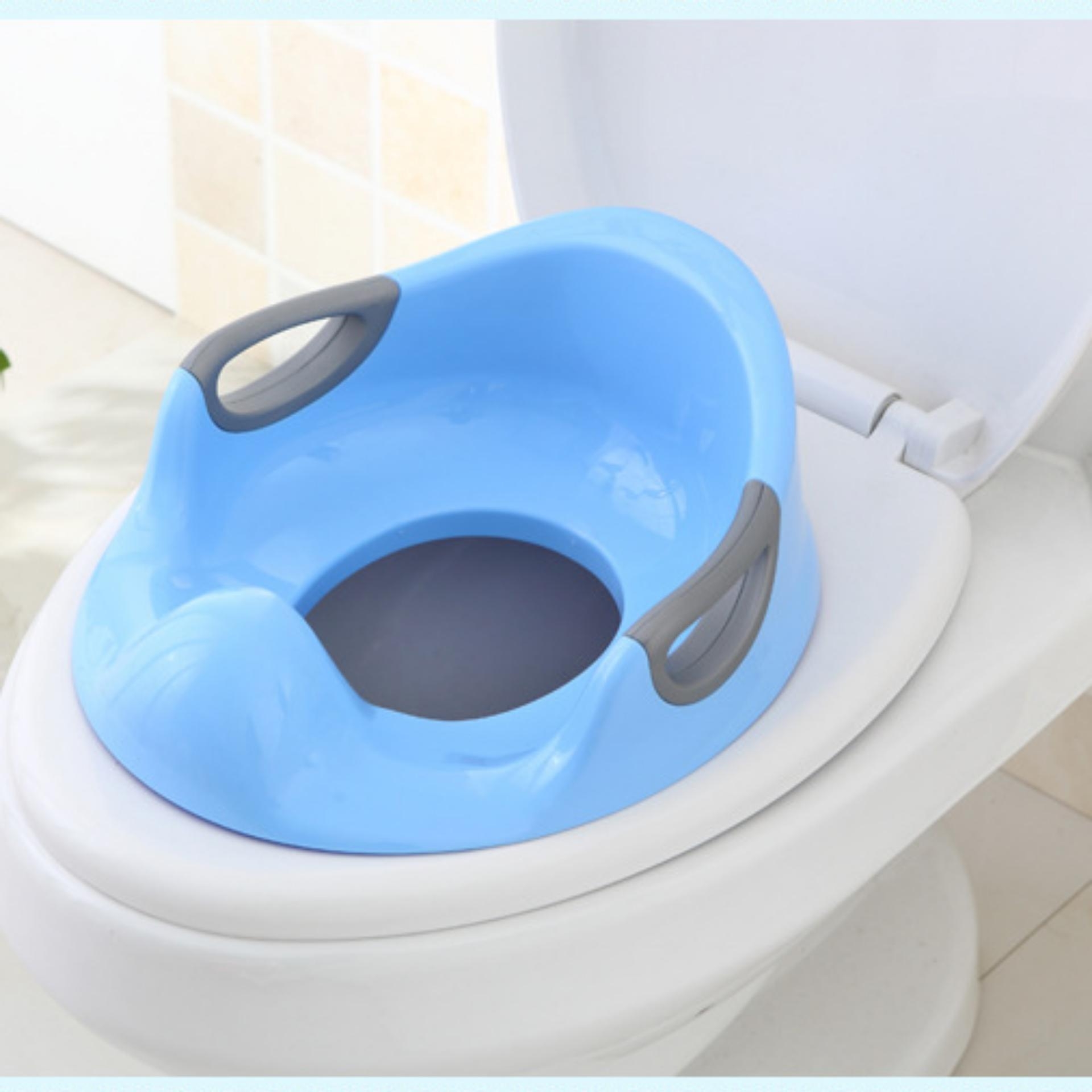 Fengsheng Kids Toilet Seat Soft Cushion Seat with Handles Cute Patterns Plastic Toilet Cover for Children