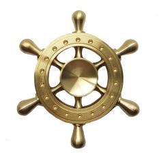 Fidget Spinner Pirate Wheel Solid Brass Metal By Great Powers.