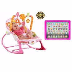 Fisher-Price Infant To Toddler Rocker (pink)with Fudun Kid Learning Educational Pad Computer Large Tablet Toy Color May Vary By Xzycollection.