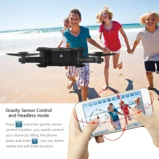 Qimiao Fpv Camera Rc Aircraft Drone With Live Video - Flexible Foldable Aerofoils App And Wifi Phone Control Uav 6-Axis Gyro Gravity Sensor Rtf Helicopter Toys,black By Qimiao Store.