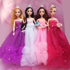 FS Big Sale Gorgeous Flower Pearl Princess Gown Evening Party Dress Doll  Clothes Outfit for 12 2e160f331b11