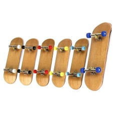 Funny Maple Wood Finger Kids Skateboards Nickel Alloy Stents Bearing Wheel Fingerboard (multicolor) By Sunshine Home.