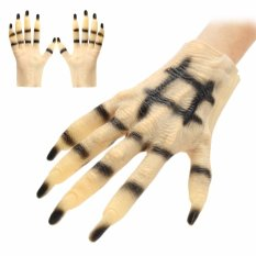 Halloween Cosplay Horror Monster Devil Wolf Paws Claws Hand Latex Gloves Unisex - Intl By Teamwin.