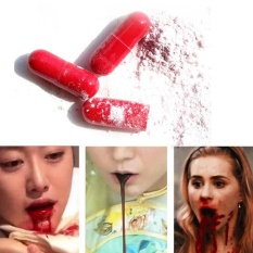Halloween Fake Blood Pills Red Capsules Cosplay Party Horror Funny Props - Intl By Litao.