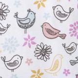 Halo Sleepsack Bird Print Swaddle (Pink) - thumbnail 3