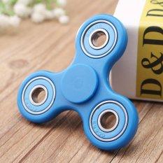 Hand Spinner Tri Fidget Ceramic Ball Desk Toy EDC Stocking Stuffer Kids Adult Blue - intl