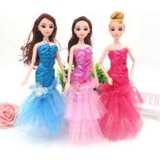 Handmade Doll Clothes 3 Pcs Lace Splicing Fishtail Skirt Set Princess  Evening Dresses for Barbie Dolls 3b21405fd04c