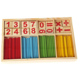 Hang-Qiao Education Numbers Stick Wooden Mathematics Toy Games for Early Learning