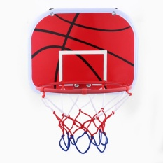 Hanging Mini Basketball Netball Hoop For Indoor Outdoor Kids Game Toy With Air Pump - Intl By Highfly.