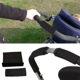Hanyu Baby Stroller Handrail Cover 2 Pieces Black - thumbnail 4