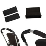 Hanyu Baby Stroller Handrail Cover 2 Pieces Black - thumbnail 3