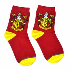 Harry Potter Socks Unisex Hogwarts Logo Gryffindor Knit Sock Pair
