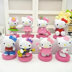Hello Kitty hello kitty kt Gato Negro Garage Kit Toy Doll Model Ornaments 8 a Cake