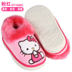 7858e7e80 Hello Kitty Children Cotton-padded Shoes 2017 New Style Winter Brushed And  Thick Girls Winter