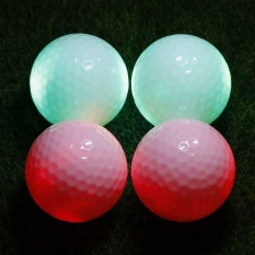 High Quality Led Glowing Ultra Bright Golf Balls For Night Training 4pcs - Intl By Risoo.