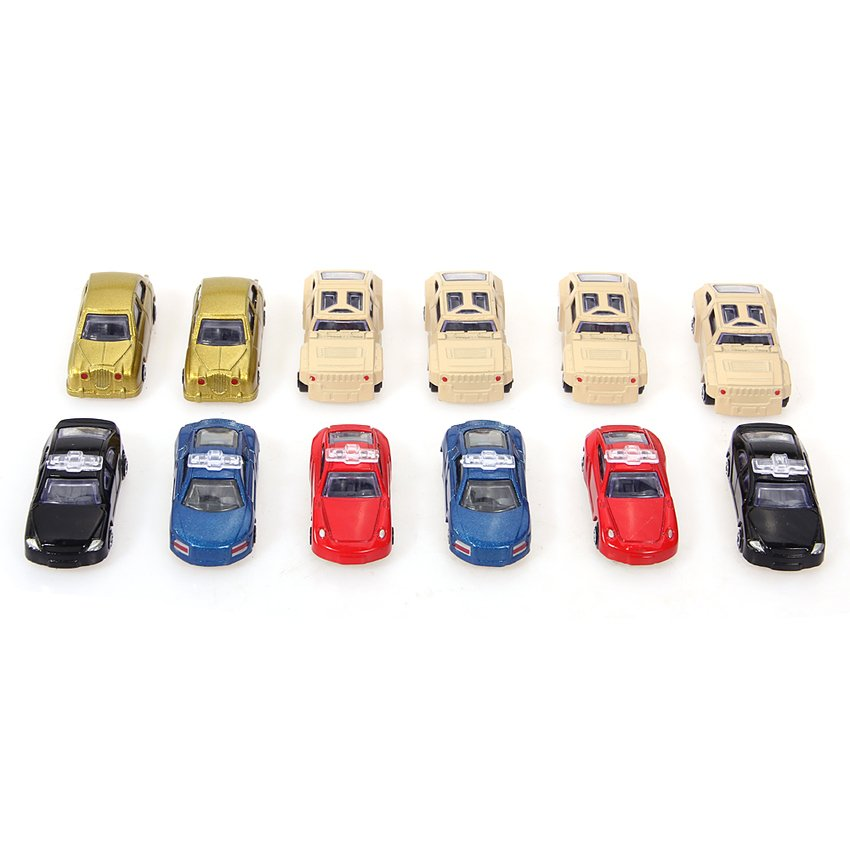 HKS 12pcs 1:64 Mini Model Racing Cars Alloy Armored Car Kids Children Gift Toys - Intl - thumbnail