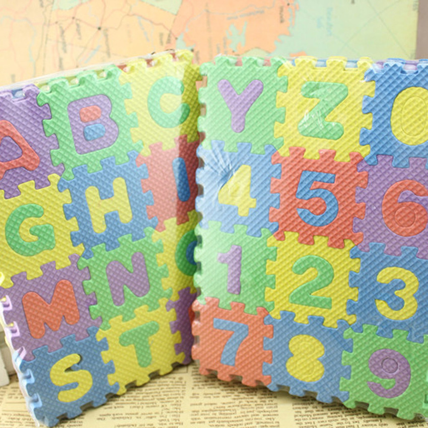 HKS 36PCS/Set Alphabet and Numerals Baby Kids Play Mat Educational Toy Soft Mats (Intl) - thumbnail