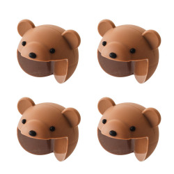 HKS 4PCS New Cartoon Furniture Corner Baby Safety Bumper Thicken Protector Bear (Brown) (Intl)