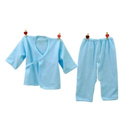 HKS Baby Newborn Cotton Underwear Infant Breathable Soft Clothing Set (Blue) - Intl