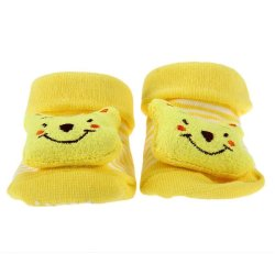 HKS Babys Anti-Slip Socks (Yellow) (Intl)
