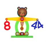 HKS Balance Beam Scale Measuring w Bear Weights Numbers Preschool Kids Toy - Intl - thumbnail 5