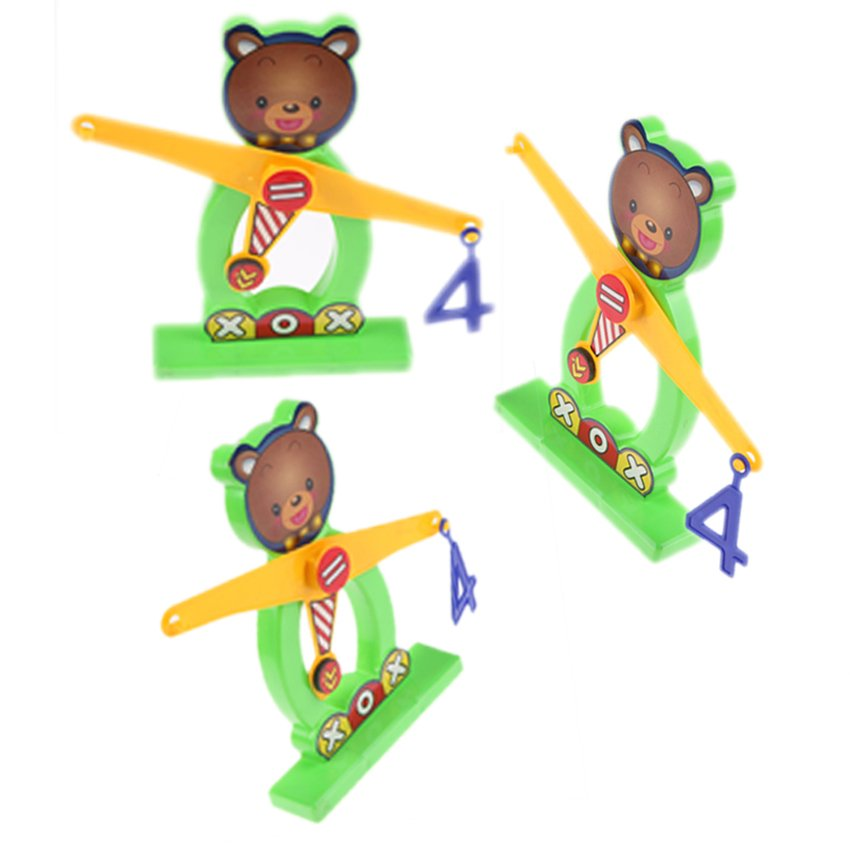 HKS Balance Beam Scale Measuring w Bear Weights Numbers Preschool Kids Toy - Intl - thumbnail