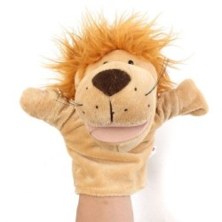 HKS Cute Cartoon Animal Doll Kids Glove Hand Puppet Soft Plush Toys Story Telling Old Lion - Intl