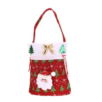 HKS Cute Kids Christmas Candy Pouch Bags Christmas Gift Bags 01 Style - Intl