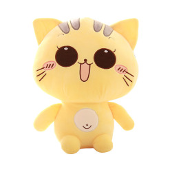 HKS Cute kitty pillow doll size plush toy doll doll BB happy birthday girl-smile 20cm - Intl