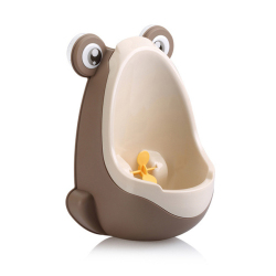HKS PP Frog Children Stand Vertical Urinal Wall-Mounted Urine Groove Coffee (Brown) - Intl