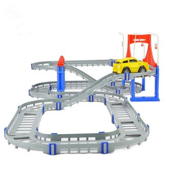 HKS Track Town Building Bricks Blocks Puzzle Educational Kids Toys Christmas Gift - Intl