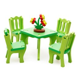 HKS Wooden Blocks Dining Room Set (Intl)