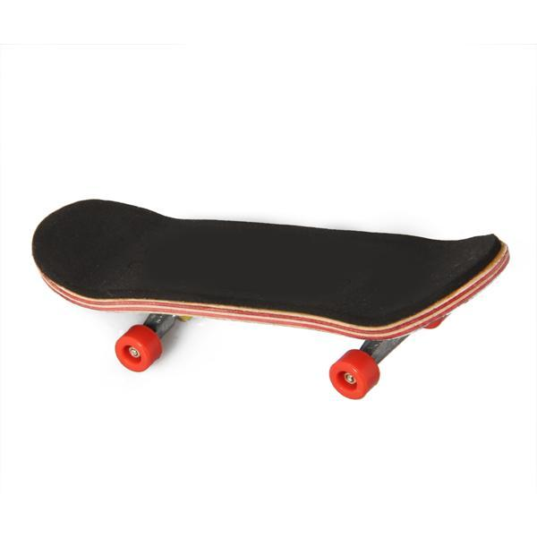 HT00640 Wooden Fingerboard Finger Skate Board + Screwdriver Random Pattern - thumbnail