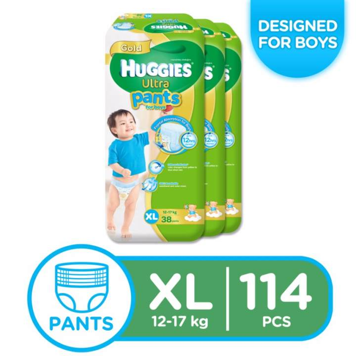 Huggies Ultra Pants for Boys XL - 38 pcs x 3 packs (114 pcs)