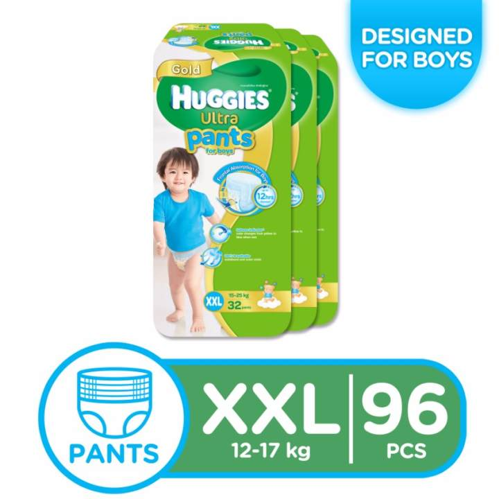 Huggies Ultra Pants for Boys XXL - 32 pcs x 3 packs (96 pcs)