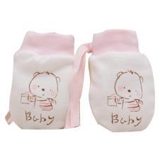 Vi.yo 1 Pairs Cartoon Baby Scratch Mittens Boys Gitls Anti Scratch Drawstring Gloves Soft Newborn Gloves Gift