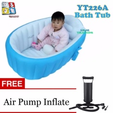 Inflatable Yt-226a Bath Tub Intime Plastic Baby W/ Free Air Pump (blue) By Usje Trading.