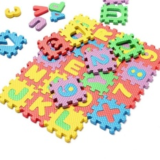 International 36Pcs 6X6cm Colorful Puzzle Kid Educational Toy Alphabet A-Zletters Numeral Foam Play Mat