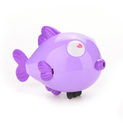 Jettingbuy Jetting Buy Kiss Fish Baby Kids Bath Toy Clockwork Wind Up Purple