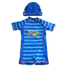 【joybuy】zipper Half Sleeve Sun-Protective One-Piece Swimsuit Boys Surfing Suit - Intl By Joy Buy.