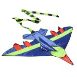 Kid Flying Kite Novelty Airplane Shape Kites Outdoor Children Toy (Blue) - intl image