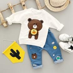 Kids 2pcs Set Cartoon Boy Girl Clothing Sets Autumn New Baby Children's Clothes Set Boy&Girls Suit